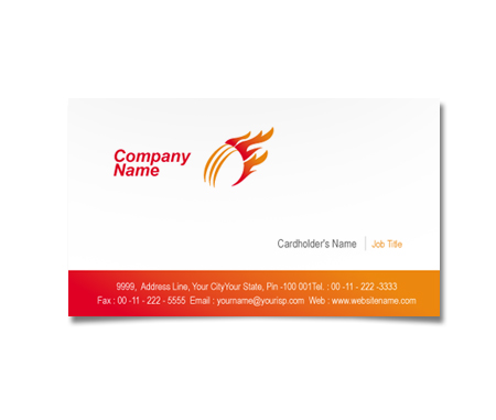 Complete Business Card  View with Layout For Cricket Academy