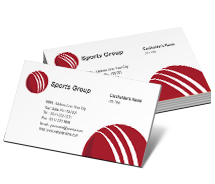 Sports Cricket Academy Centre business-card-templates