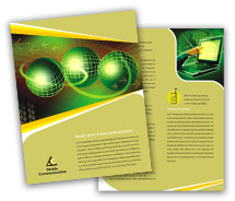 Brochure Templates online communication services
