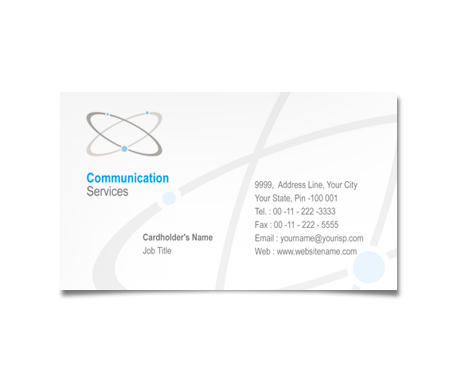 Complete Business Card  View with Layout For Global Communication Solutions