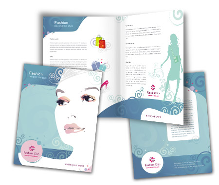 Complete Brochure  View with Layout For Fashion Store