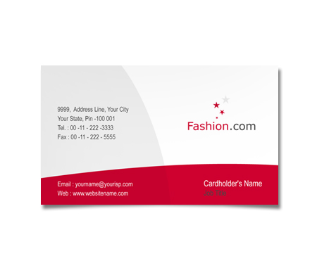 Complete Business Card  View with Layout For Womens Fashion Club