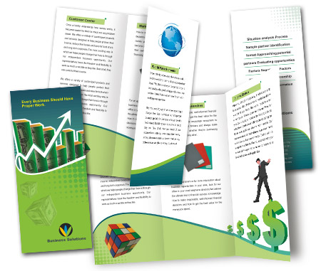Complete Brochure  View with Layout For Business Finance Solution