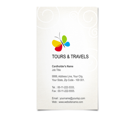 Complete Business Card  View with Layout For Classic Tours
