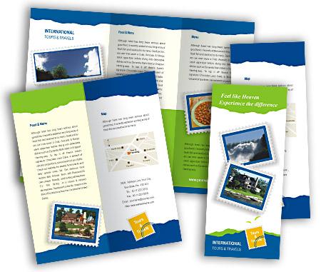 Complete Brochure  View with Layout For Travel Agency