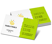 Tours & Travel Sightseeing Tours business-card-templates