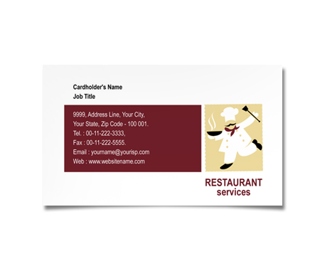 Complete Business Card  View with Layout For Restaurant