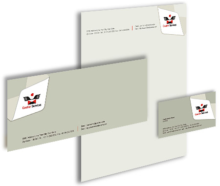 Complete Corporate Identity  View with Layout For Courier Service