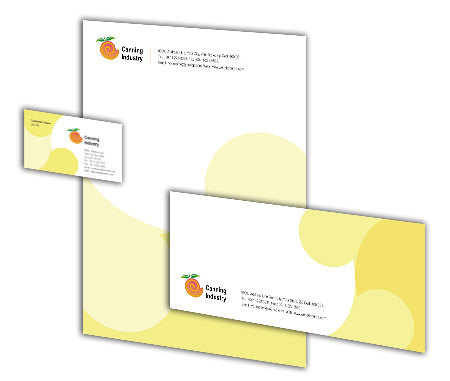 Complete Corporate Identity  View with Layout For Canning