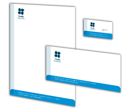 Complete Corporate Identity  View with Layout For Textile Industry