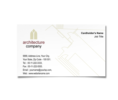Complete Business Card  View with Layout For Architectural Designers