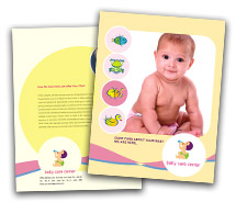 Medical Child Health brochure-templates