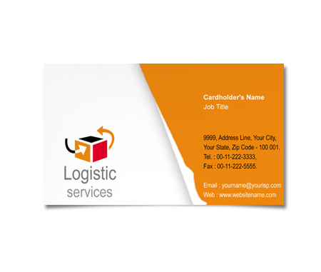 Complete Business Card  View with Layout For Logistics Source