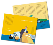 Brochure Templates logistics transportation