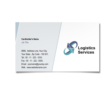 Complete Business Card  View with Layout For Power Logistics