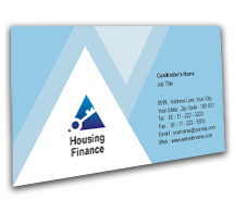 Finance Housing Finance BusinessCardTemplates