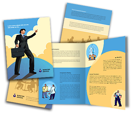 Complete Brochure  View with Layout For Corporate Finance Services