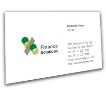 Finance Finance Solution BusinessCardTemplates