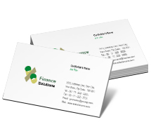 Business Card Templates Finance Finance Solution