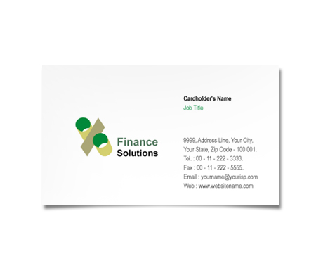 Complete Business Card  View with Layout For Finance Solution