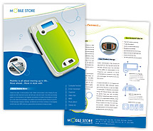 Communications Mobile Phones Dealers brochure-templates