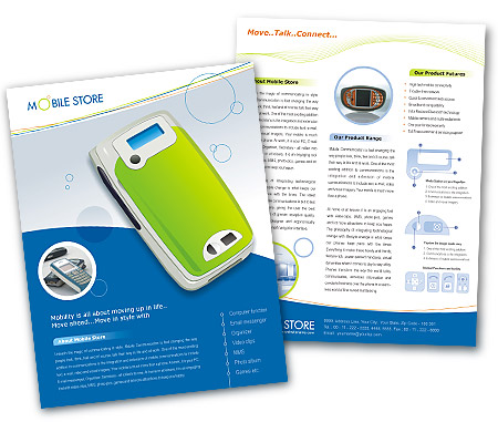 Complete Brochure  View with Layout For Mobile Phones Dealers