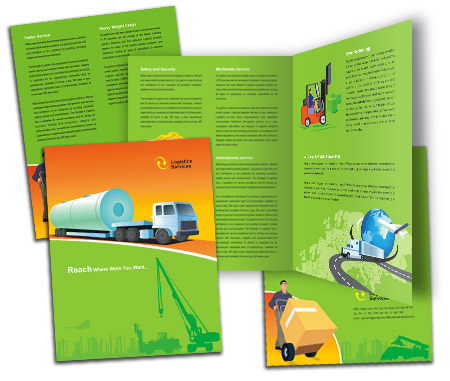 Complete Brochure  View with Layout For Worldwide Logistics