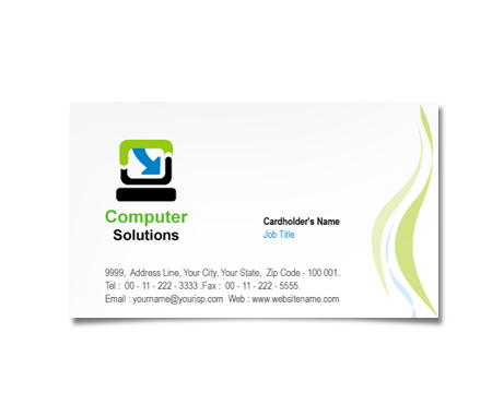 Complete Business Card  View with Layout For Computer Hardware Software