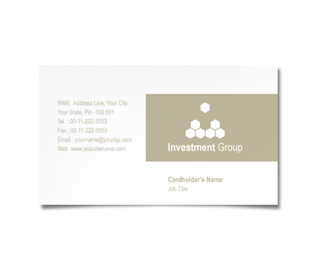 Complete Business Card  View with Layout For Investment Group