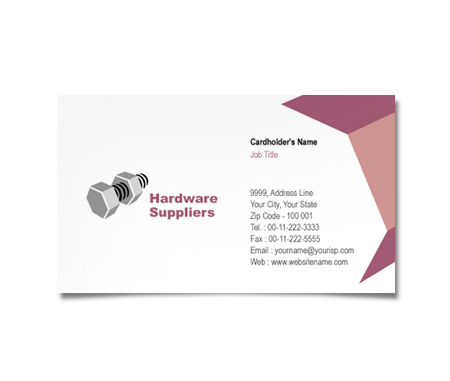Complete Business Card  View with Layout For Industrial Companies