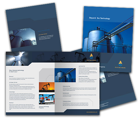 Complete Brochure  View with Layout For Oil Company