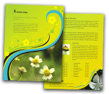 BrochureTemplates Nature Florists Single Page