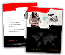 Communications Mobile Phones Dealer brochure-templates