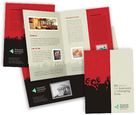 Complete Brochure  View with Layout For Financial Service