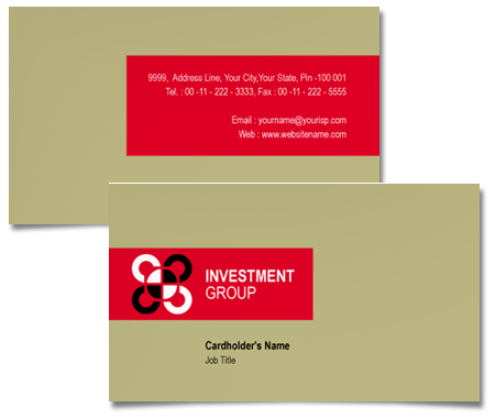 Complete Business Card  View with Layout For Industry Investment