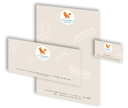 Complete Corporate Identity  View with Layout For Pet Care Services