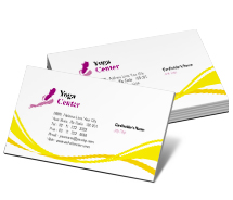 Business Card Templates yoga fitness