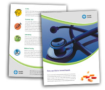 BrochureTemplates Medical Health Centers Single Page