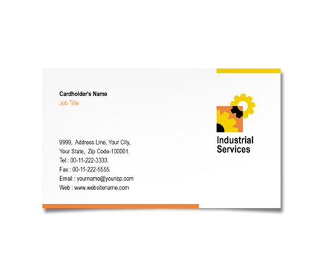Complete Business Card  View with Layout For Industrial Safety