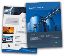 Brochure Templates Industrial Oil Company