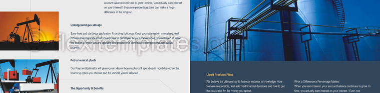 Actual Brochure  Design For Oil Company
