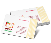 Business Card Templates pizza and food