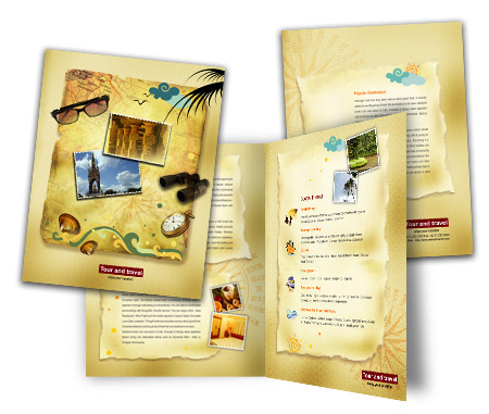 Complete Brochure  View with Layout For International Travel