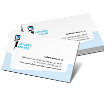 Business Card Templates computer screens