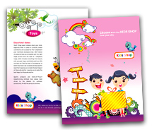 Stores & Shops Kids Store brochure-templates