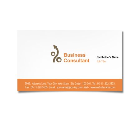 Complete Business Card  View with Layout For Finance and Investment Planner
