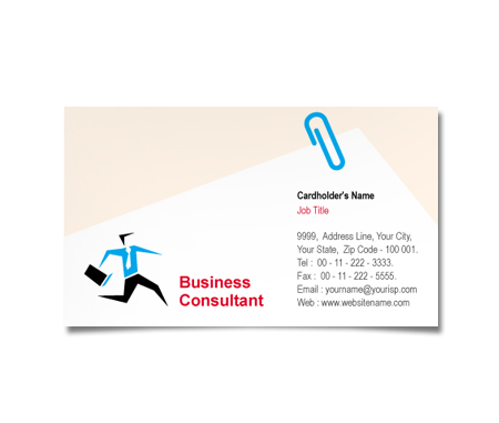 Complete Business Card  View with Layout For Financial Planner