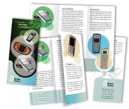 Complete Brochure  View with Layout For Mobile Handsets