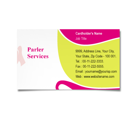 Complete Business Card  View with Layout For Fashion Hair Salon