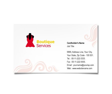 Complete Business Card  View with Layout For Brand Fashion
